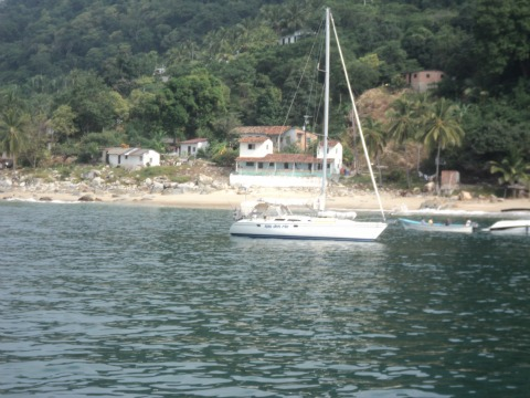 Sailboat outside of Playa Las Animas