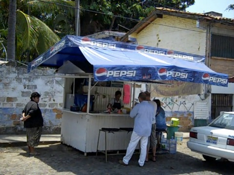 Street Food and Taco Stand in Puerto Vallarta